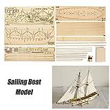 Leepesx Kit modello di assemblaggio di navi fai-da-te Modello di scala in legno per barche a vela Decorazione Giocattoli Regali per bambini Adulti