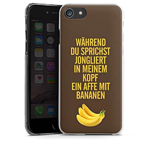 Apple iPhone X Silikon Hülle Case Schutzhülle Affe Bananen Sprüche Hard Case transparent