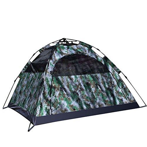 3-4 Person Camping Zelt Outdoor Doppeldecker Backpacking Zelt Automatische Instant Pop up Zelt Für Outdoor-Sport mit Camouflage