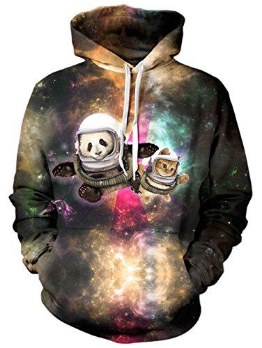 BFUSTYLE 3D gedruckt Hoodie Neuheit Panda Cat Sweater für Herren Damen Damen Unisex Sweatshirt Pullover mit großer Tasche