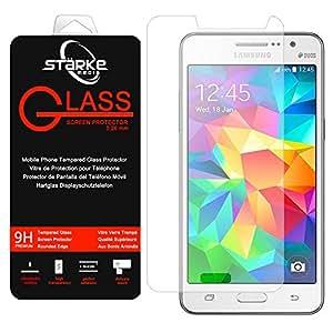 Starke Media® - Film vitre de protection écran Samsung Galaxy Grand Prime G530 en verre trempé haute transparence et ultra résistant (incassable, inrayable 9H) et Ultra Slim (0,26mm) avec bords arrondis - pour une protection et un confort d'utilisation de votre telephone