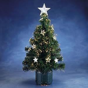 Glasfaser weihnachtsbaum mit sternen farbwechsel wei h he 60 cm 3302 500 - Amazon weihnachtsbaum ...