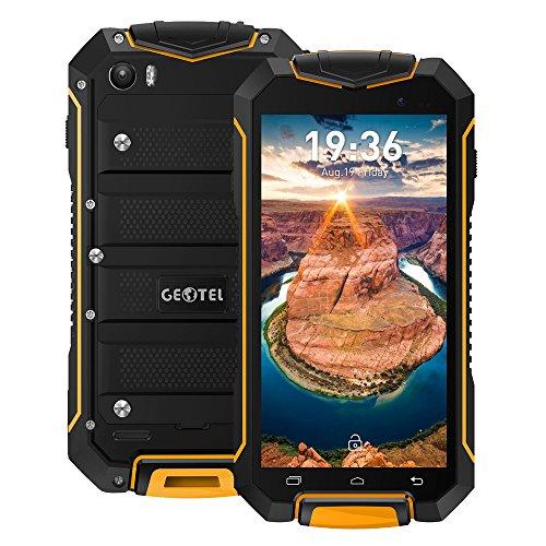 Geotel A1 Outdoor Smartphone 3G WCDMA 4.5Zoll Android 7.0 Quad-Core 1GB RAM+8GB ROM 8.0MP Hauptkamera 3400mAh IP67 Wasserdichte Shock Proof Dual Sim,Ohne Vertrag