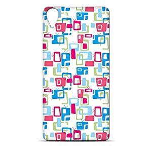 ezyPRNT Colorful TVs Pattern Hard Back Case For HTC Desire 820