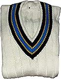 3M Cricket-Pullover für Herren, ärmellos, schwere Wolle, V-Ausschnitt, Stretch, ohne Ärmel, 52