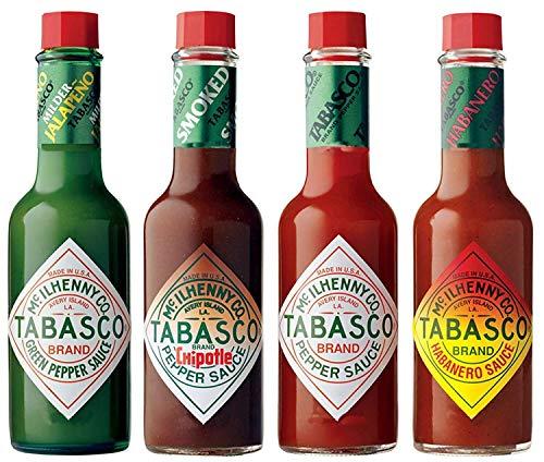 Tabasco-Pfeffer-Soße - Satz von 4 Aromen - Eingepackt