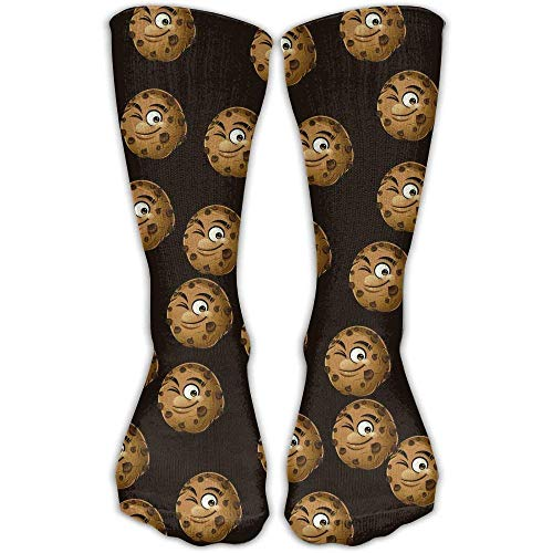 Chocolate Cookies Unisex Cotton Stockings Athletic Casual Compression Socks For Womens & Men (Knie-hohe Socken Mit Griffen)