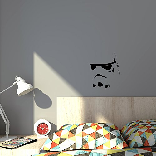 Price comparison product image Storm trooper star wars - DIY easy to apply wall vinyl sticker fun and cool for home improvement and decorations perfect present for fans of the cult film trilogy