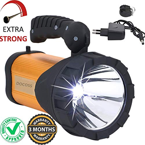 DOCOSS- Metal 40 w Rechargeable Waterproof Bright Led Torch Light Laser Long Range Distance High Power Search Light Kisan Rechargable Emergency Lights(Multi-Color)