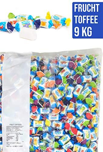 Restpostencenter Frucht Toffee Kaubonbons, Soft Toffee Großpackung für Geburtstag & Wurfmaterial für Karneval, 3 kg