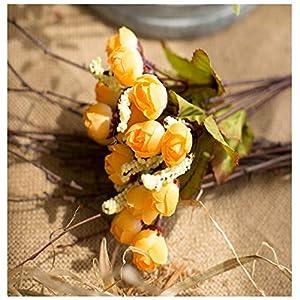 AVXZK 10 Hersteller großhandel frühling 15 Sterne Knochen Blume kleine Tee Knochen Blume Rose knospe Perle Knochen Blume künstliche Blume Kunststoff Blume Knochen Blume Herbst gelb
