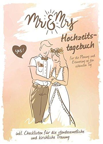 """Hochzeitstagebuch """"Mr und Mrs"""": Für die Planung und Erinnerung an den schönsten Tag"""