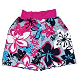 Splash About Kids Surfer Style UV Sun Protection Board Shorts - Pink Hibisbus, 1-2 Years
