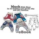 Muck Nähanleitung mit Schnittmuster auf CD für Jerseyhose mit 3D Taschen in 10 Größen Gr. 50/56 bis 158/164