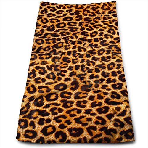 Osmykqe Leopard Print Microfiber Lightweight Soft Fast Drying for Gym Beach Travel Fitness Exercise Yoga - Türkische Handtücher Weiße