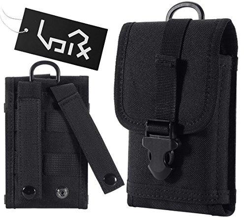 Urvoix Tactical Militär MOLLE-Tasche mit Schnalle, Armee-Gürtelclip, Handy Tasche - EDC Utility Outdoor Gear schwarz