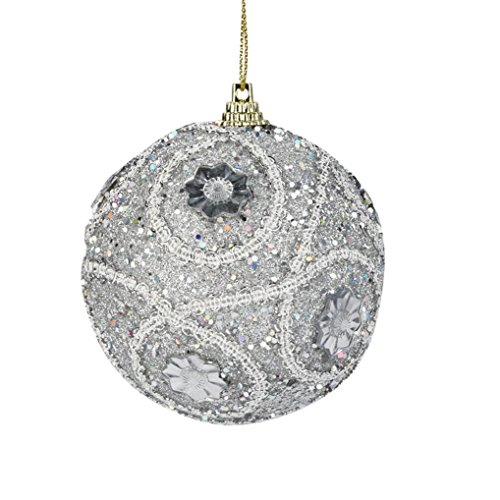 DIY Weihnachtsdekor Weihnachtskugeln Strass Glitter Baubles Kugeln Kreative Weihnachtsbaum Ornament Dekoration 8 CM (A)