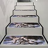 Hukz Stufenmatten Korallen Treppen-Teppich Rambo 5er SparSet 9 Farben Incl. Fleckentferner (B)