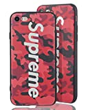SUP Camo Case [ Kompatibel mit Apple iPhone 7/8, in Rot ] Supreme Hülle im Camouflage Design - Army Tarnmuster - Fühlbares 3D-Motiv