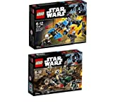 LEGO® Star Wars Set - 75164 Rebel Trooper Battle Pack + 75167 Bounty Hunter Speeder Bike Battle Pack