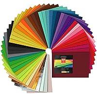 ARTEZA Hojas de fieltro para manualidades | 50 fieltros rígidos para costura y artesanía | Colores