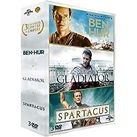 Coffret péplum : gladiator ; spartacus ; ben-hur