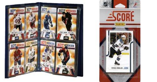 C & I Collectables NHL San Jose Sharks Lizenzprodukt 2011Score Team Set und Lagerung Album - Schlafzimmer Media Storage