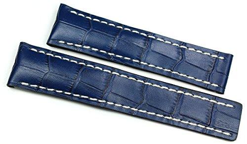 Rios1931 22 mm/20 mm Cinturino per orologio in vera pelle fatto a mano...