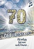 Geburtstagskarte mit Musik, Din A5 - Jetzt ist es soweit- Zahl 70