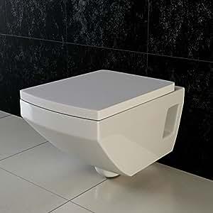 vilstein wand wc h nge wc toilette tiefsp ler mit geschlossenem sp lrand wc sitz deckel mit. Black Bedroom Furniture Sets. Home Design Ideas