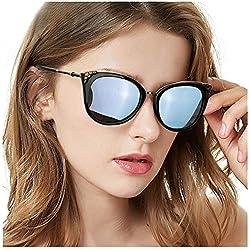 TosGad Gafas De Sol de Ojo de Gato para Mujeres, Grandes Polarizadas Moda Gafas para Conducir - 100% Protección UVA UVB (Azul)