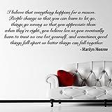 I Believe - Marilyn Monroe Quote Wandtattoo / Aufkleber - Schwarz - W74 x H30