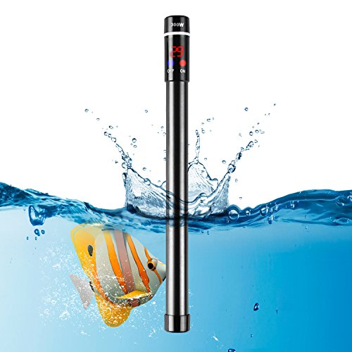 MVPOWER Aquarium Heizer Regelheizer 300W Heizstab mit LED-Anzeige für Süß- und Meerwasser Aquarien