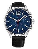 Tommy Hilfiger Unisex Multi Zifferblatt Quarz Uhr mit Leder Armband 1791468