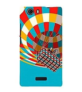 Hot Air Balloon 3D Hard Polycarbonate Designer Back Case Cover for Micromax Canvas Nitro 2 E311 :: Micromax Canvas Nitro 2 (2nd Gen)
