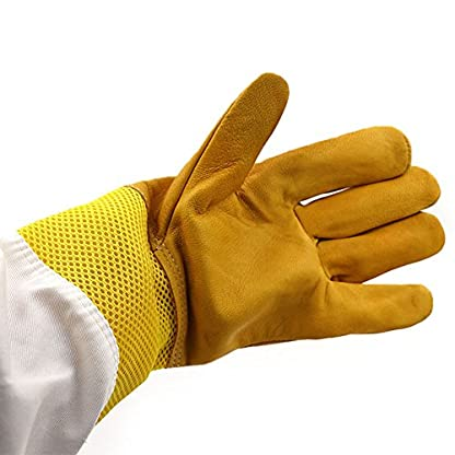 New Extra Large Beekeeping Gloves made with goatskin and thick vented cotton sleeves Bee Hive Farm Equipment 6