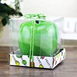 Green Apple Shape Fruit Scented Candle Home Decoration Christmas Candle Birthday Candle Lamp Paraffin Wax Candle