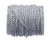 Catena a maglie intrecciate in alluminio, larghezza 4,5 mm, non sbiadisce, ideale per creare gioielli fai da te, braccialetti, collane