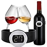 SMILEDRIVE® Wine Bottle Snap Thermometer: Best Wine Gift Accessory for Any Wine Enthusiast - Serve Your Bottles at The Correct Wine Temperature