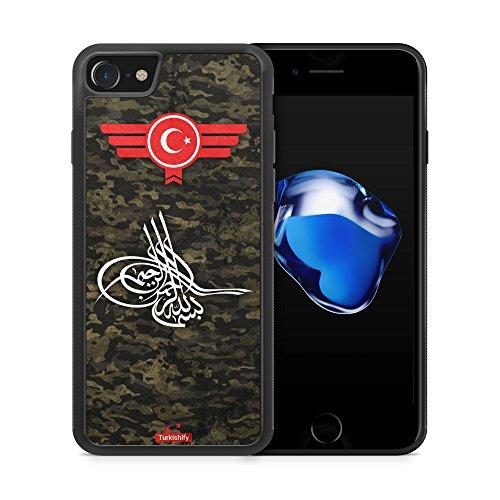"""Preisvergleich Produktbild iPhone 7 Silikon TPU Cover Case Hülle - Türkiye Türkei Camouflage """"Osmanli Tugra"""" - Handyhülle Schale Schutzhülle Türk Turkish Turquie Türkce Turkey Türkisch"""