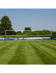 Volleyball- und Badminton Kombi-Netzpfosten mit Volleyball- und Badmintonnetz [Net World Sports]