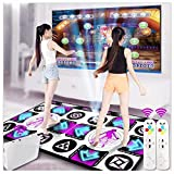 G'z Led Wireless Double Dance Mats, Foam Play Mat Thickening Soundproofing Soft Dance Mats for Adults/Children Hd Tv Computer Dual-Use English Manual, A, 95 * 165Cm