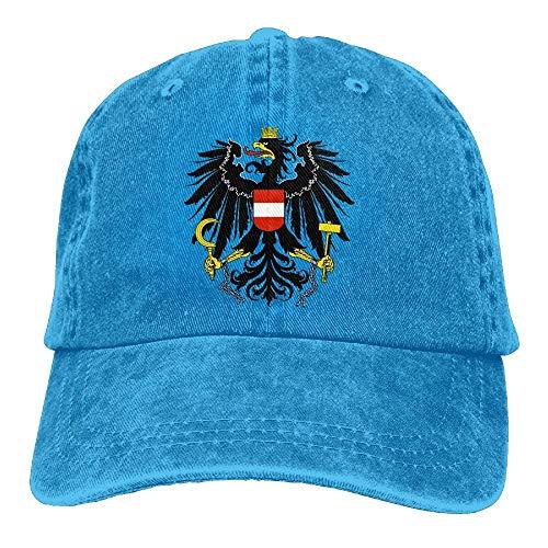 Sdltkhy Einstellbare Baseballmützen Österreich National Emblem Cowboy Style Trucker Cap Multicolor46 - Baseball-cap Kleinkind Boston