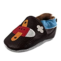 SizeSize:S- 0-6 months 11cm/4.3inM- 6-12 months 12cm/5.1inL -12-18 months 14cm/5.5inXL -18-24 months 15cm/5.9inMaterial: leatherFeature: Elastic ankle design,soft leather edge,Which can protect your baby's feet more effective.The baby shoes a...