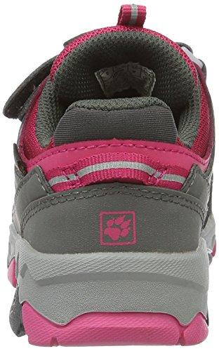 Jack Wolfskin Unisex-Kinder Mtn Attack 2 Texapore Low Vc K Trekking-& Wanderhalbschuhe Grau (Pink Raspberry)