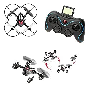 JJRC H6C 2.4GHz 4CH 6-Axis Gyro 360-degree Eversion Remote Control RC Quadcopter Helicopter Airplane Plane Aircraft Model with 2mp Camera + 2GB TF Card Red