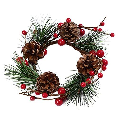 Kostüm Damen Diy Rosa (Weihnachtskranz, BURFLY DIY Weihnachtskranz Baum Bowknot Anhänger für Weihnachtsschmuck (E (16CM),)