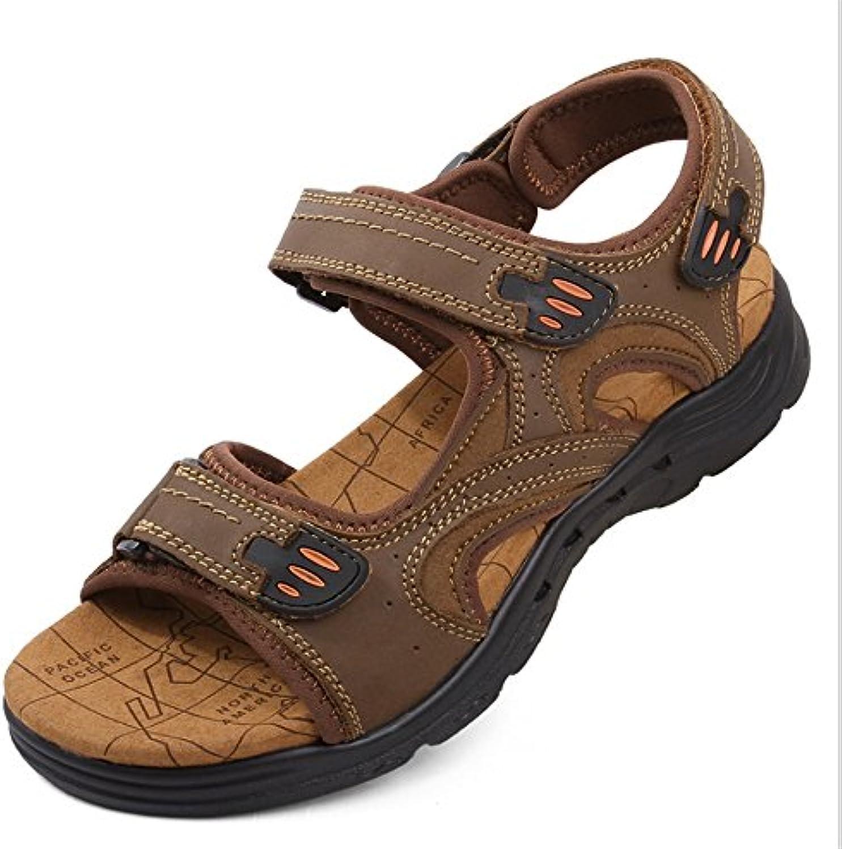 ee9924841eb8d2 wagsiyi wagsiyi wagsiyi tongs sandales en cuir extérieur pour hommes et  antidérapantes occasionnels (couleur: chaussures chaussures de plage...b07gnzscst  ...