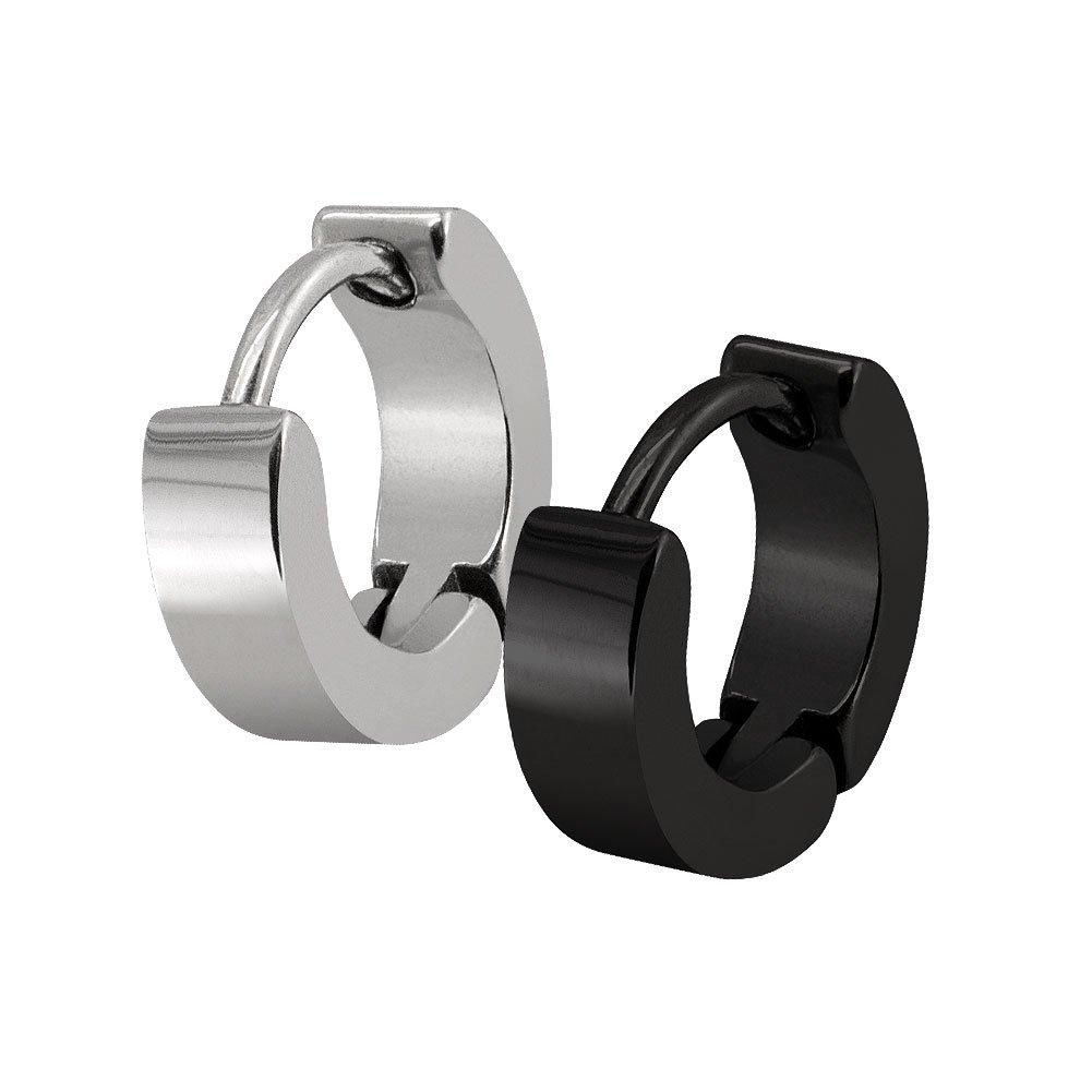 1 coppia di anelli in acciaio inox di diverse dimensioni e colori