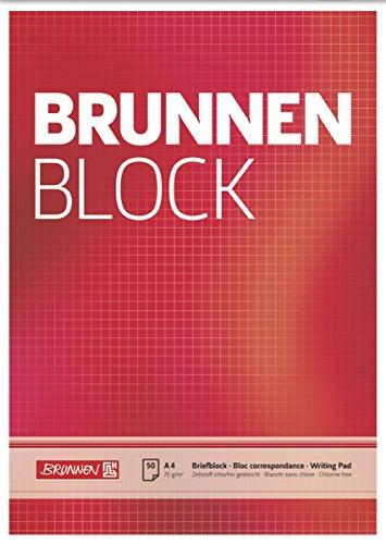 Brunnen 1052728 Briefblock / Schreibblock / Der Brunnen Block (A4, kariert, 50 Blatt, 70 g/m²)